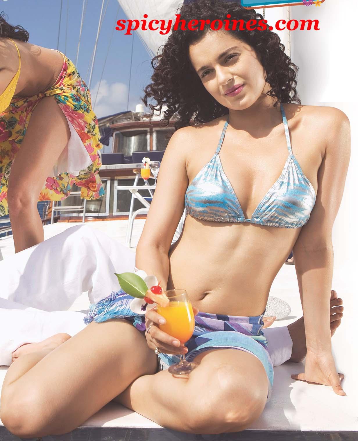 Beautiful Bikini Special Kangana Ranaut not an Bollywood industry ...